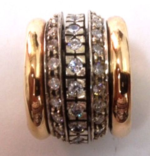 Spinner ring / cz ring / cocktail ring