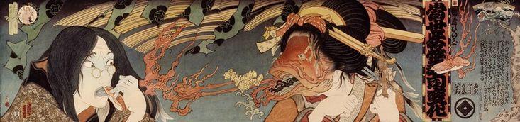 『ロサンゼルス寿司シリーズ 怪談 魚女と画家』 左が寺岡政美自身