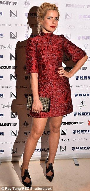 Chart-topping chic: Paloma Faith pulled out all the stops with her red paisley minidress a...