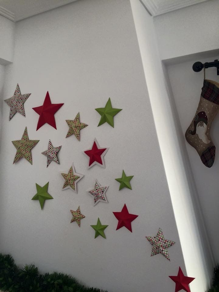 3d paper stars for decorating your home!