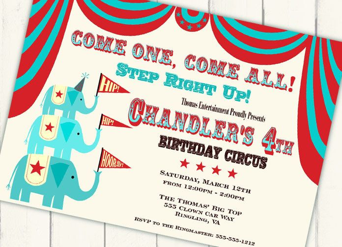 170 best Circus Invites images on Pinterest Invites - circus party invitation