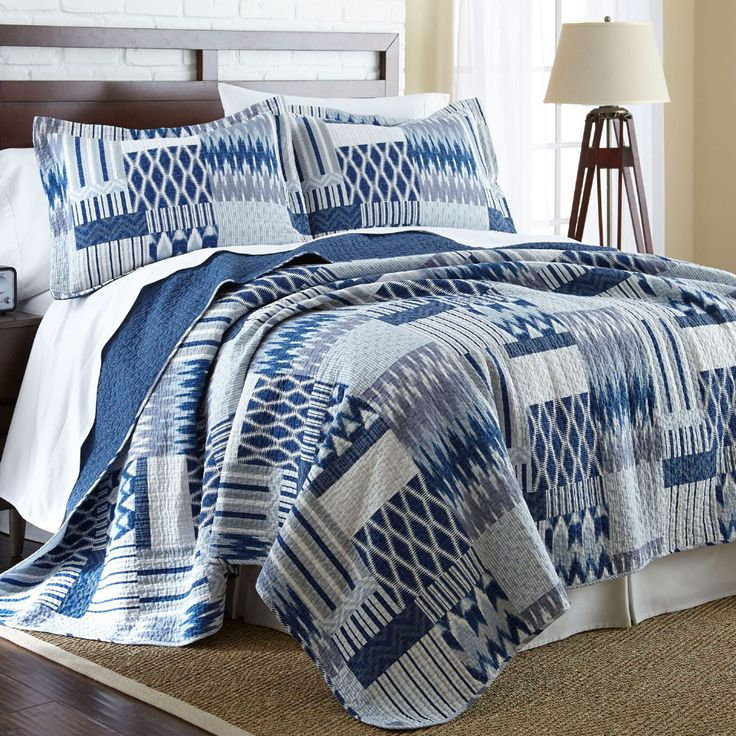 Sanctuary by PCT - 3-Piece Aubrey Queen Reversible Quilt Set