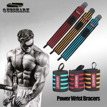 1pc Queshark 60 * 8cm Poids de levage Wrist Support Fitness Sport Wristband Powerlifting Gym Crossfit main poignet Wraps Strap Bracer (Chine (continentale))