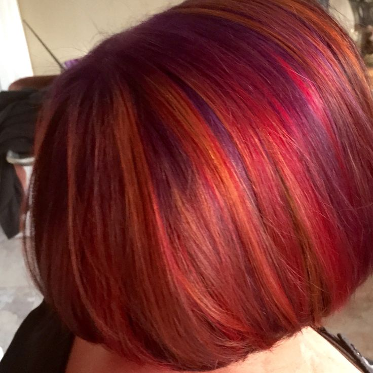 A Delicious Blend Of Purple Red Orange And Blue My