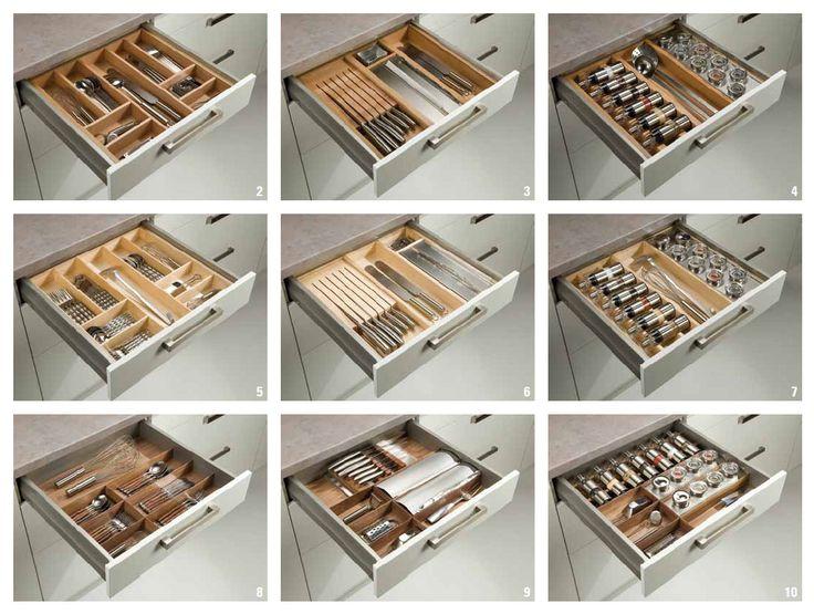 Cocinas interiores para organizar los cajones madrid - Cajones para cocinas ...