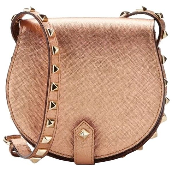 Pre-owned Rebecca Minkoff Skylar Mini Studded Rose Gold Cross Body ...