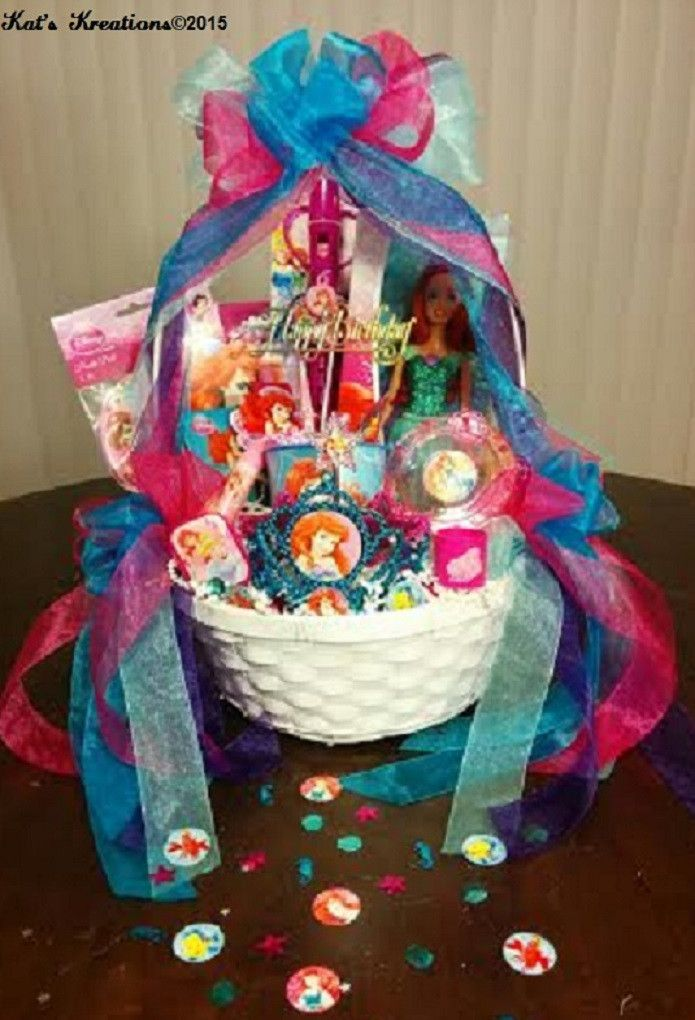 Quot Little Mermaid Quot Birthday Party Gift Basket Small Option