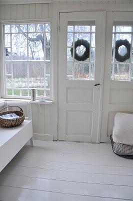 doors & awreaths painted floor great feel