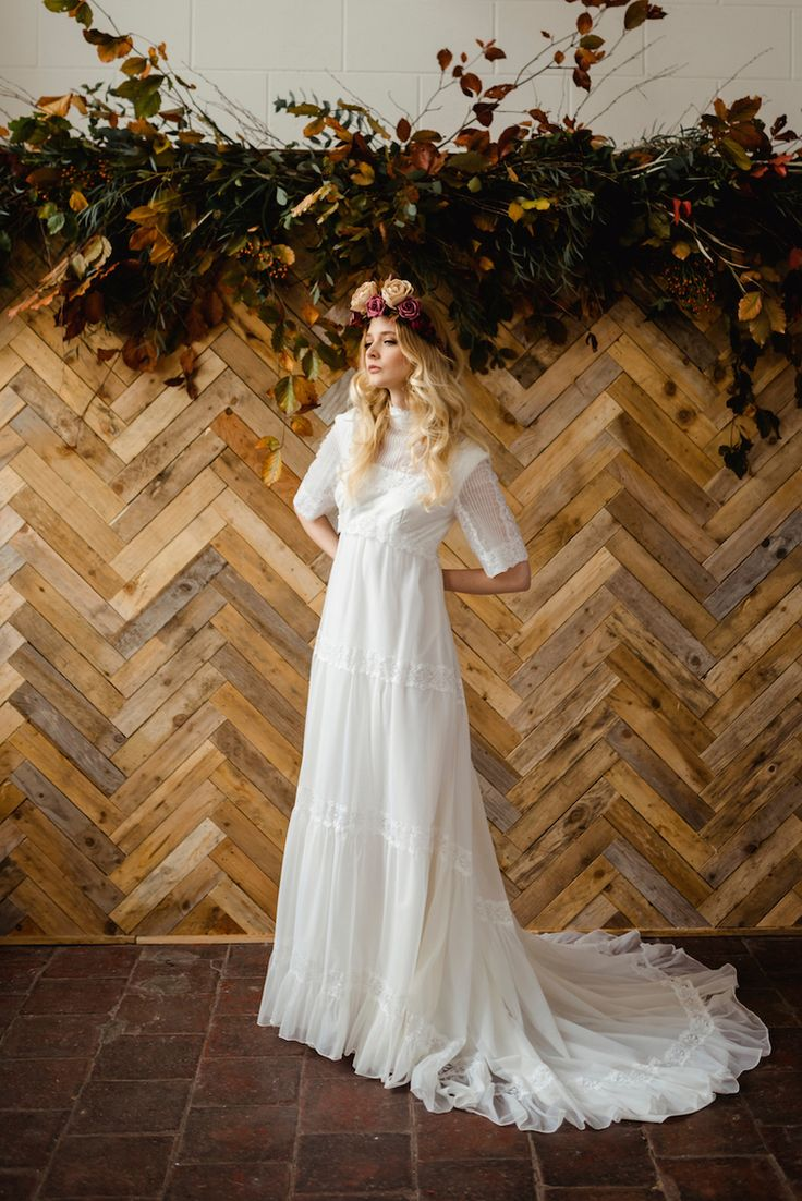 1970s lace tiered vintage wedding dress from Archive 12 - bridal boutique ireland