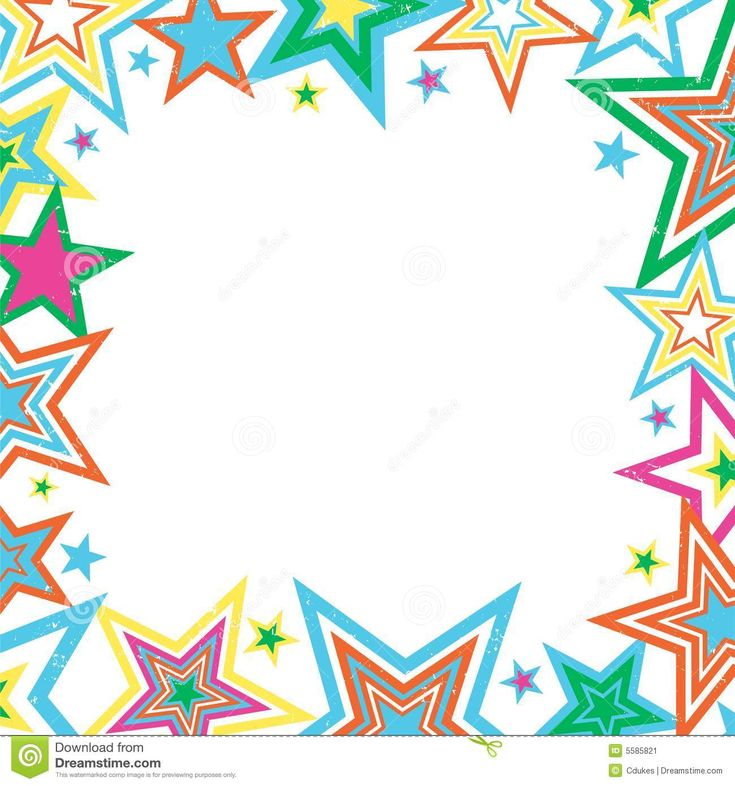 Pix For > Pink Star Borders And Frames | Star and Sky Art ...