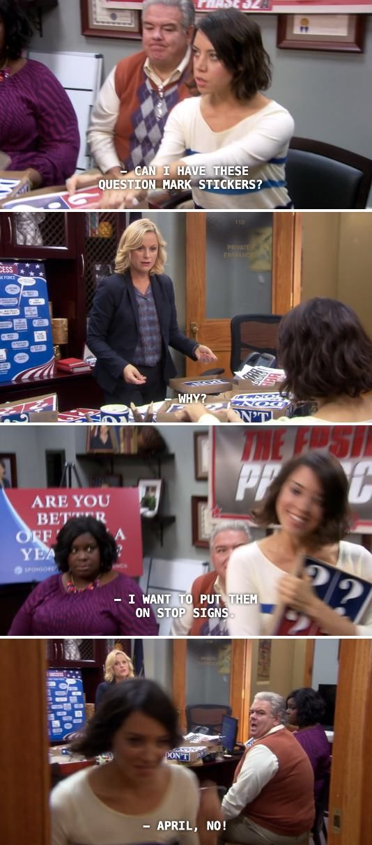 Parks and Rec returns for it's final season next. In honor of the occasion, here are a few of April Ludgate's finer moments… via via via via via via via via via via via via via via via via via via via via via Previously: 24 of Andy Dwyer's Greatest Moments on Parks and Rec