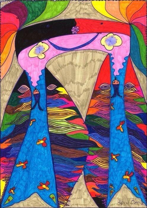 "APRIL DENİZ, ""Pınar , 2009, graphic pen on paper."