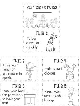 Whole Brain Teaching Class Rules and  Mini Book