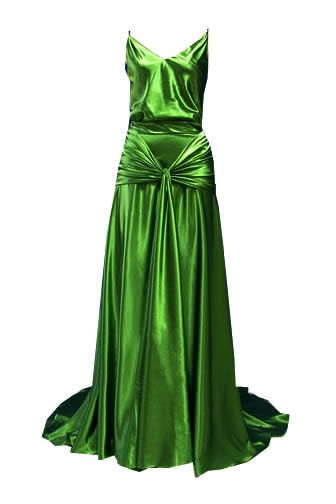 Satin gown in the style of the 1920's dress worn by Keira Knightley in the film Atonement