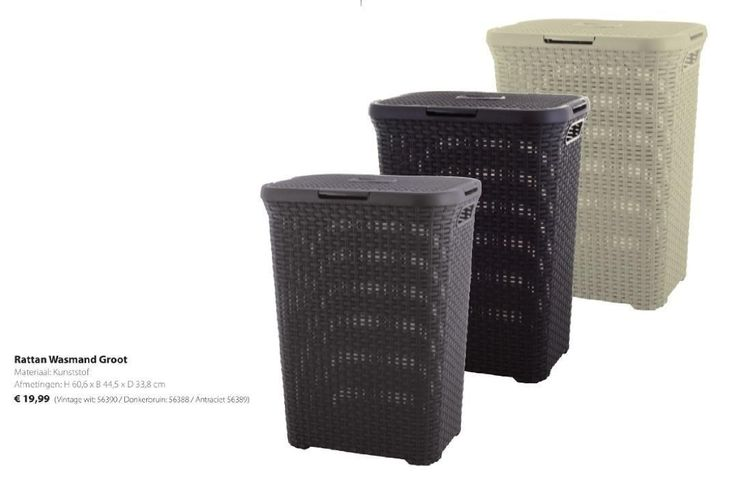 Rattan wasmand groot - Curver