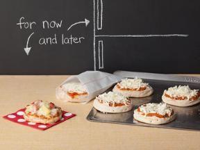 Make ahead personal pizzas