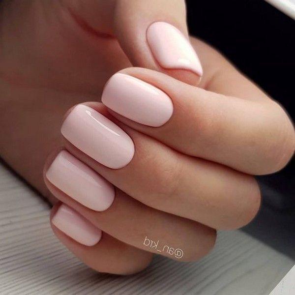 Top 20 Wedding Nail Art Design Ideas In 2020 Blush Nails Squoval Nails Short Acrylic Nails