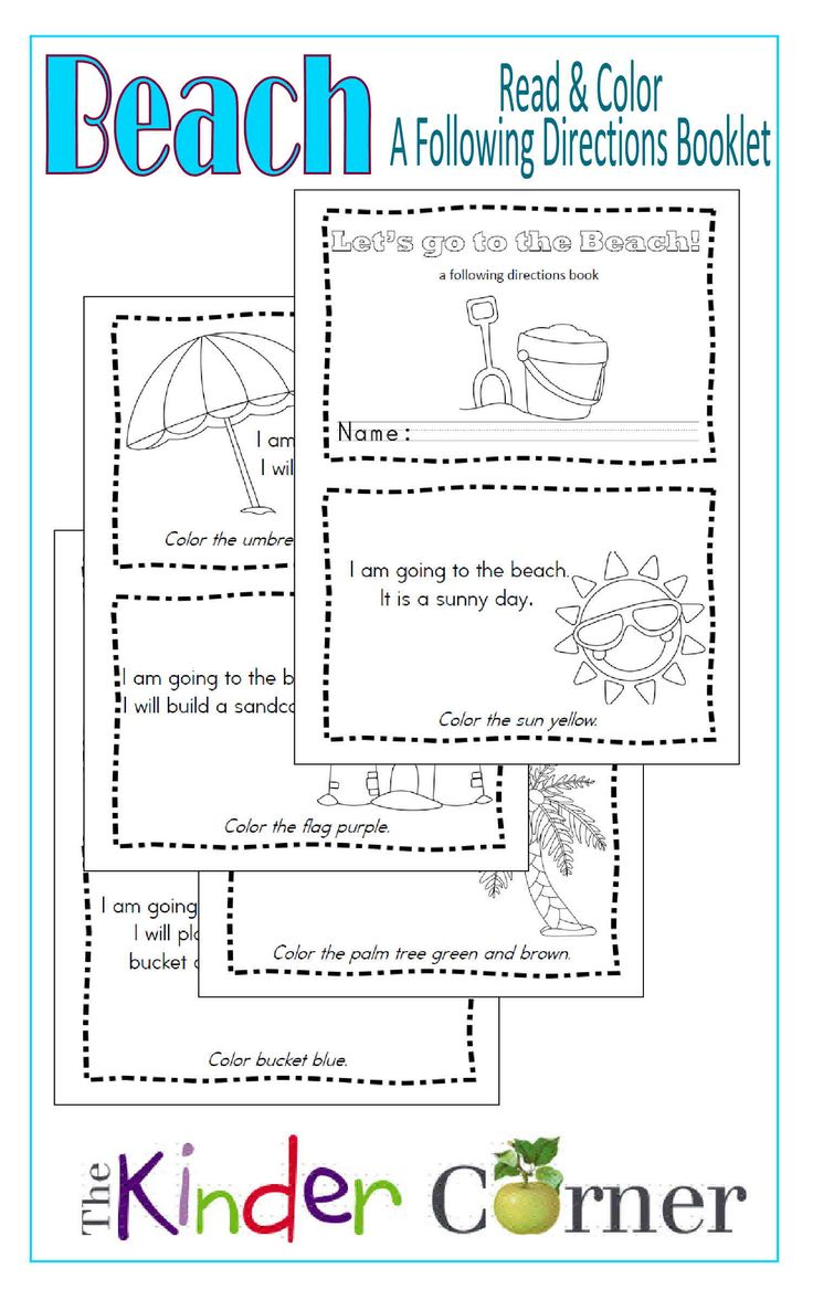 ... Booklet: A following directions book free from The Curriculum Corner