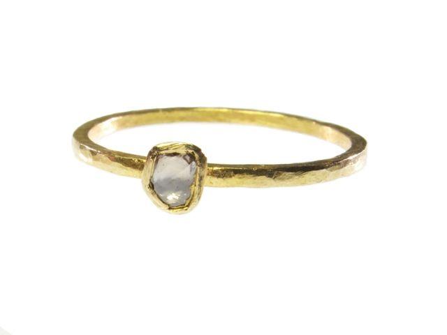 18 Karaat Goud En Polki Diamanten Ring R101-G