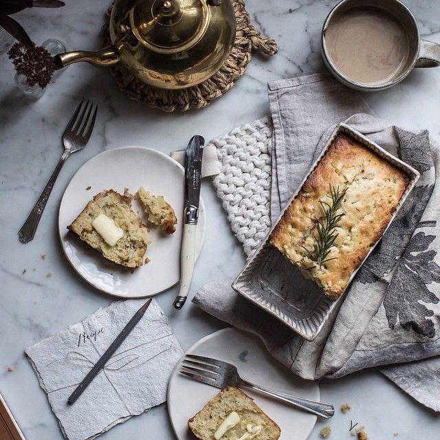 Apple & Rosemary Buttermilk Quick bread - local milk