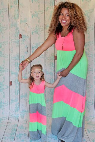 Be,Bold,Neon,Maxi from Be Inspired Boutique. This site sells really cute matching mother/daughter outfits!