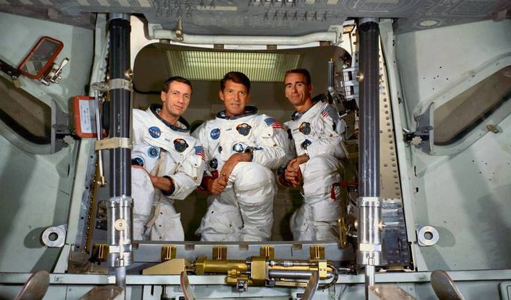 Crew of Apollo 7, the first manned spacecraft of the Apollo program