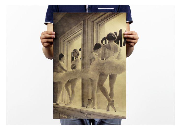 Vintage Style Paper Plakat Retro Naklejki Ścienne balet J & Y Dekoracji papieru plakat 51x35 cm w Vintage Style Paper Plakat Retro Naklejki Ścienne balet J & Y Dekoracji papieru plakat 51x35 cm od Painting & Calligraphy na Aliexpress.com | Grupa Alibaba