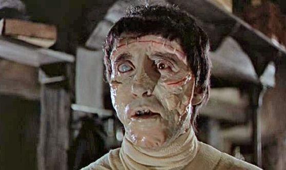 Christoper Lee as Frankenstein's Creation