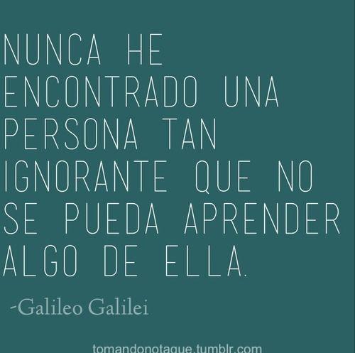 Frases • #Frases de Galileo Galilei frases #citas