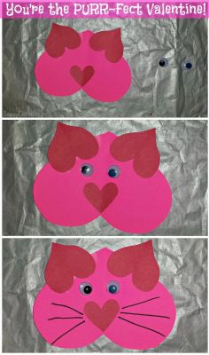 List of Easy Valentine's Day Crafts for Kids-made cat and a dog 2014 Massers