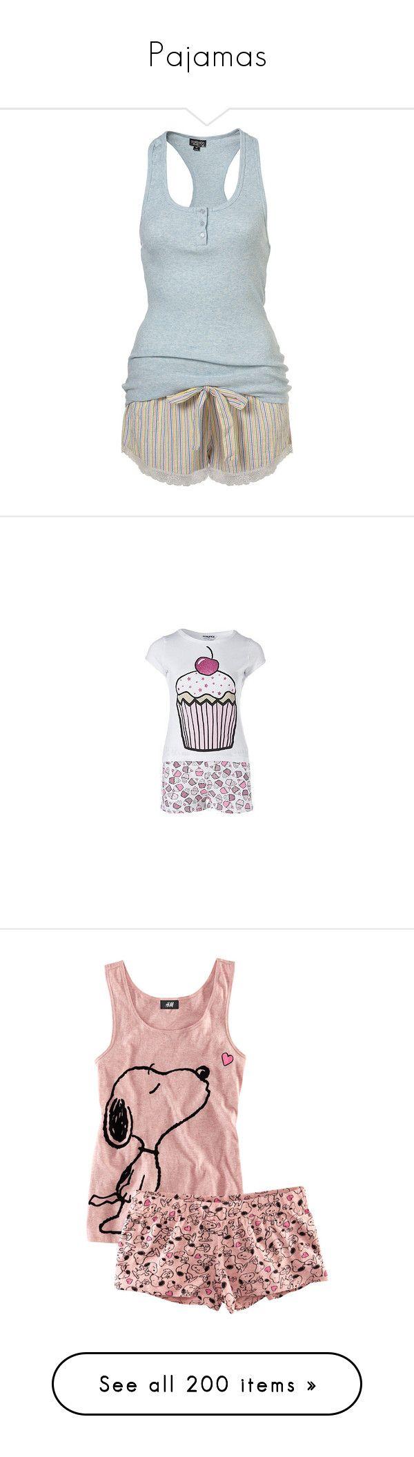 """""""Pajamas"""" by blaizeg ❤ liked on Polyvore featuring intimates, sleepwear, pajamas, pijamas, pyjamas, sleep, women, striped pyjamas, cotton pajamas and cotton pyjamas"""