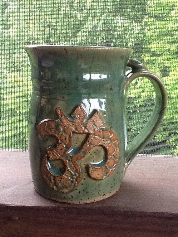 Coffee Tea Mug Yoga OM Yogi Peace Namaste by FlexYogaWooster $20