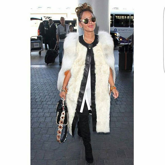, I'm here for the fur coat cape situation love it want it #wishlist lol  repost via @instarepost20 from @popcultureinashell This is A Badddddd Fur Coat tho that the gorgeous Adrienne Bailon is rocking yasssssss hunty My girl A is also wearing that Glo Up ish that I'm getting married soon glo! #adriennebailon #fashionkilla #fashionista #fashion #furcoat #celebritystyle #prettyalicious #prettygurlswag #prettyonfleek #happilyeverhoughton  #instarepost20