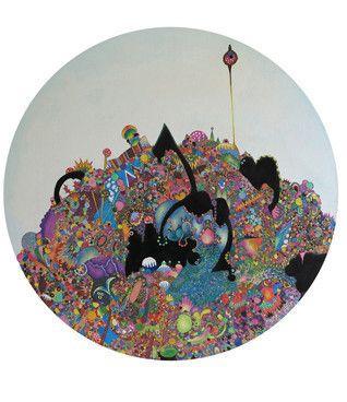 Gemma Nelson: Pibloktoq, 2014 www.kidsofdada.com/products/pibloktoq-2014 #art #geometric #colorful