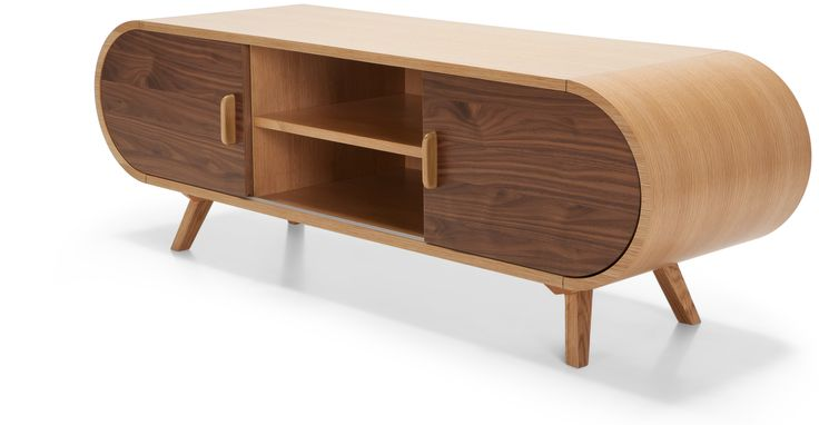 Fonteyn Media Unit in oak and walnut | made.com - I loved the curved lines and natural wood of this eye-catching piece.  It really makes a statement and has a hint of retro about it.