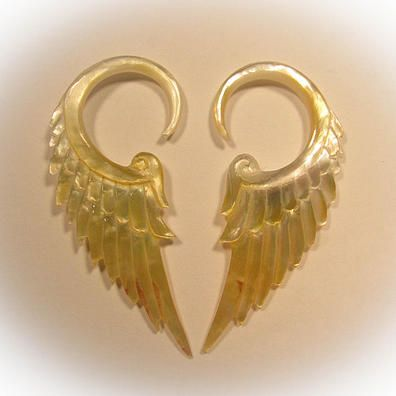 Paragon Gauge Earrings (Shell) Liquid Fire Mantra - http://www.liquidfiremantra.com/