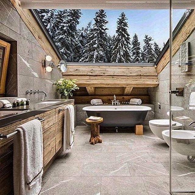 "36 Likes, 1 Comments - Interior & Mountain (@interiorandmountain) on Instagram: ""Bathroom Credit: @turcohome #interiør #hytteinteriør #hytteinspirasjon #hyttebad #fjellhytte…"""