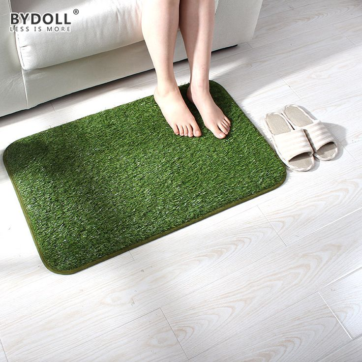 ==> [Free Shipping] Buy Best BYDOLL Simulation Green Grass Lawn Mat Anti-slip Autohesion No Glue Decoration Mats For Hallway Living Room Bedroom Outdoor Online with LOWEST Price | 32794563870