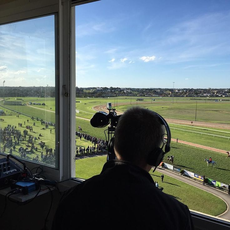 In the race caller's box for the Cup #racecall #warrnambool #warrnamboolcup #warrnamboolracingclub #thebool #allroadsleadtothebool #races #horseracing #thoroughbreds #thecup by adodgy