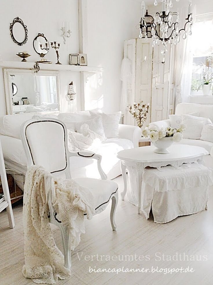 Wohnbereich Shabby Chic Pinterest All White Room Love The And Love