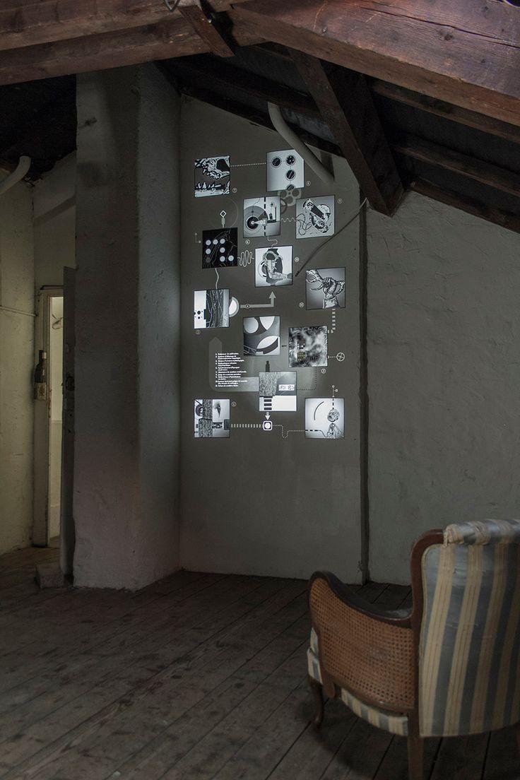 Mécaniques Discursives at Bazart Festival / July 2013 / Geneva / CH #MecaniquesDiscursive #FredPenelle #YannickJacquet #VideoMapping #woodcut