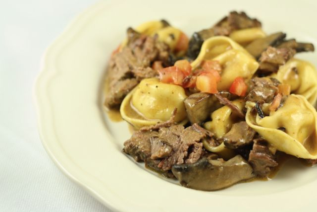Braised Beef Short Ribs With Tortelloni In A Marsala Cream Sauce Slow Cooker Recipe Gardens