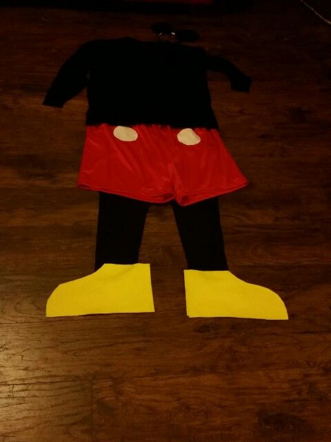 Diy Adult Male Mickey Mouse Costume Red Athletic Shorts
