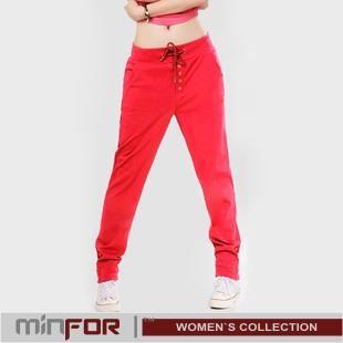 Женские спортивные зауженные штаны серый
