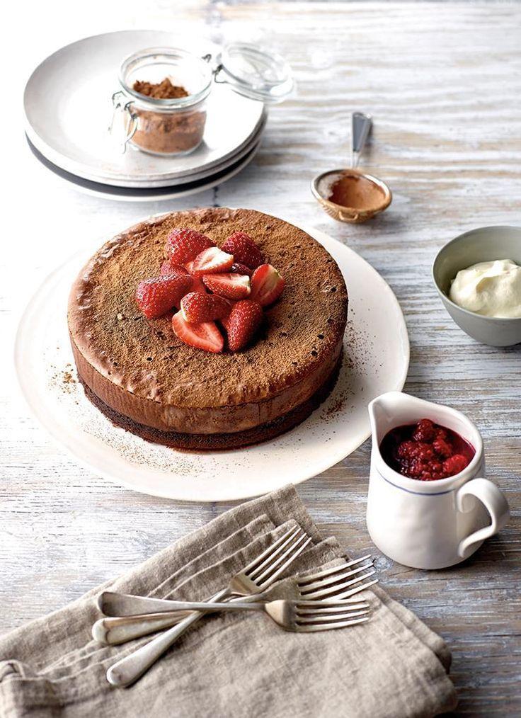 Chocolate Mudcake with Berry Sauce