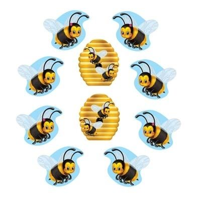 Bumble Bee Cut Outs Mini Out Wall Decorations