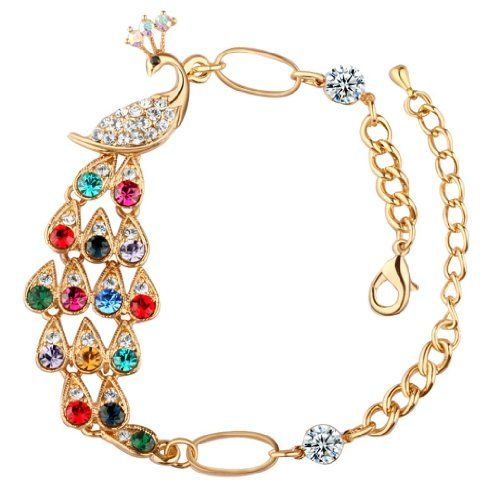 niceeshop(TM) Vintage Style Colorful Full Rhinestones Crystal Peacock Hand Chain Bracelet-Multi Color niceEshop http://www.amazon.co.uk/dp/B00HC9JC88/ref=cm_sw_r_pi_dp_JvL6tb0BGMX8G