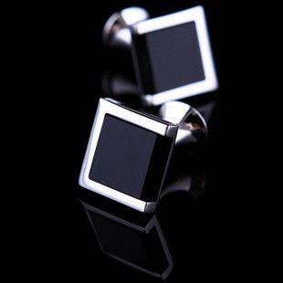 Black Onyx Centered Cufflinks - Cufflinks Men