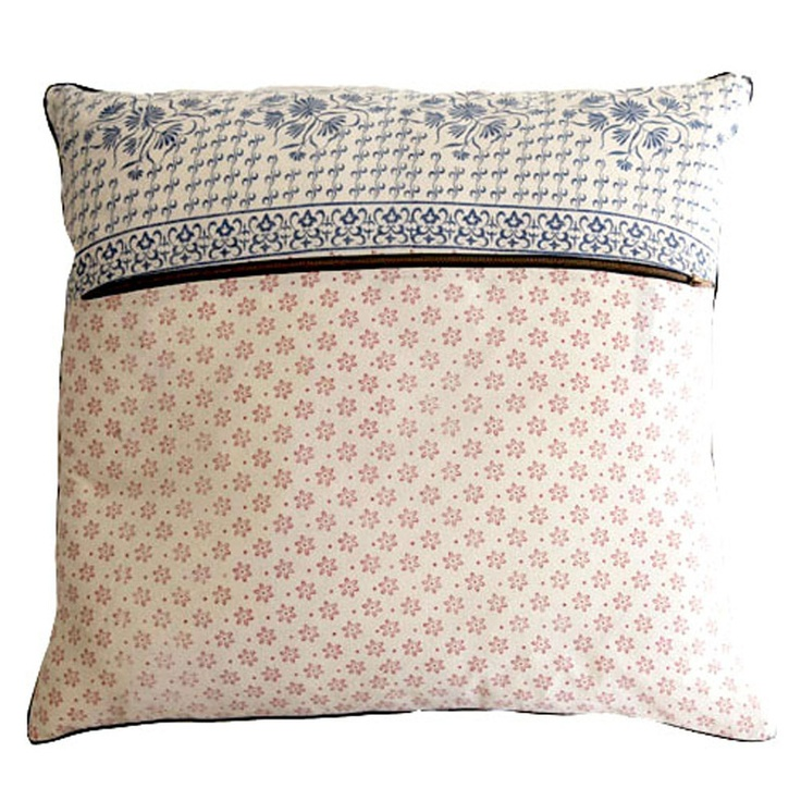 Weathered Blockprint Oversize Pillow Case