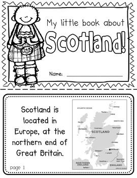 Scotland Booklet (A Country Study!) -- Use during social studies units about countries around the world! TeachersPayTeachers
